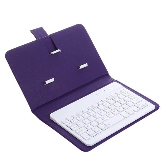 Wireless Keyboard with Protective Cover Mobile Phone Keyboard Leather Case