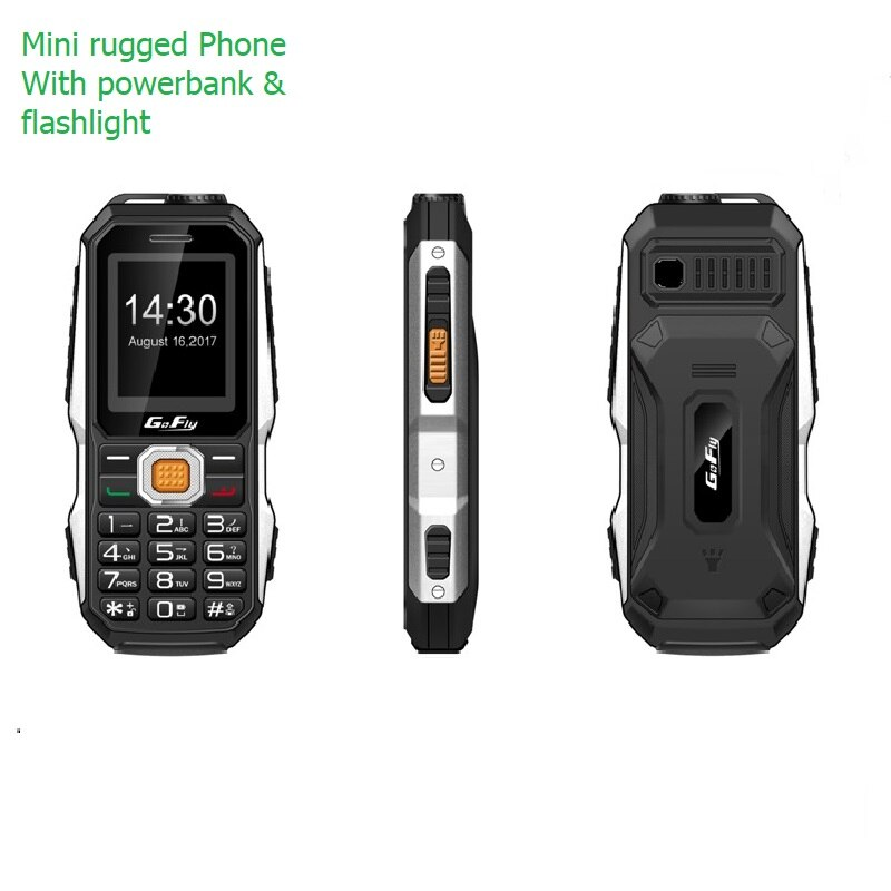 Unlock Small Outdoor Rugged Mobile Phone For Senior Russian Key Facebook Torch Light IMEI Changable Mini Power Bank Cemera P011