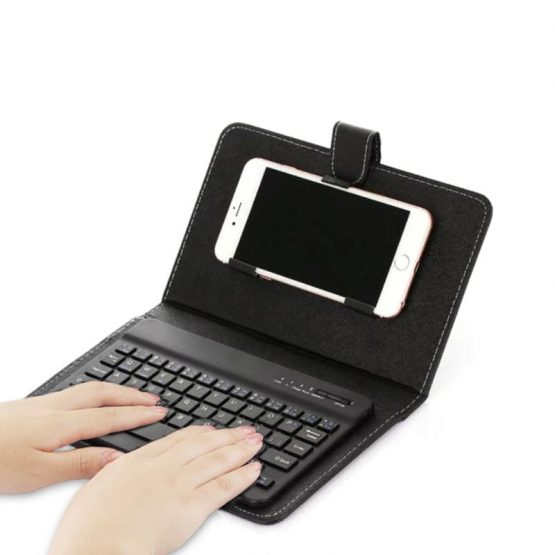 Leather Bluetooth Wireless Keyboard Case Protective Cover