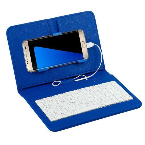 "Kuulee General Wired Keyboard Flip Holster Case For 4.8-6.0"" Mobile Phone"