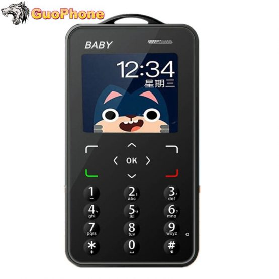 """Baby Small Mobile Phone 1.8"""" Ultra Thin Card Pocket Student Kids MP3 Push Button Support TF Card Mini Slim Size Cheap Cellphone"""