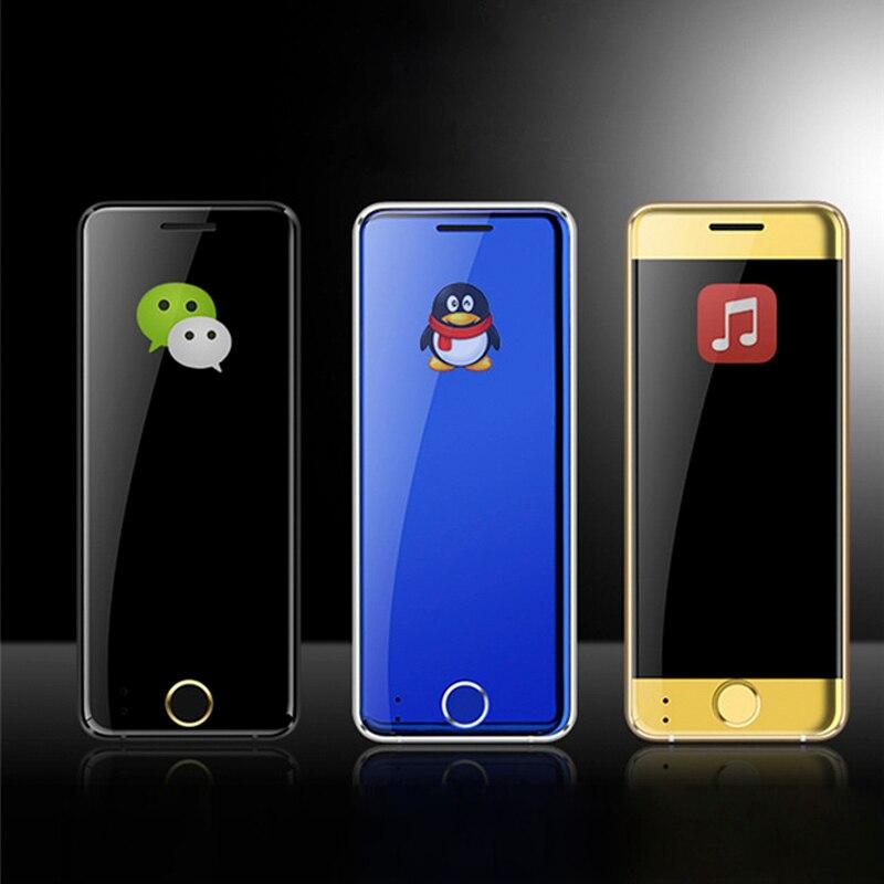 Ultra Thin Metal Case Ulcool V66 Mini Card Phone Bluetooth Dialer 1.67 inch FM radio dual SIM Card Small Phone PK V36 V66A