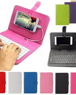 Leather Bluetooth Wireless Keyboard Case Protective Cover for iPhone