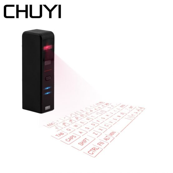CHUYI Bluetooth Wireless Keyboard Virtual Laser Projection