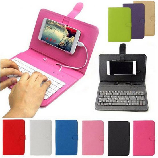 Portable PU Leather Wireless Keyboard Case for iPhone Protective