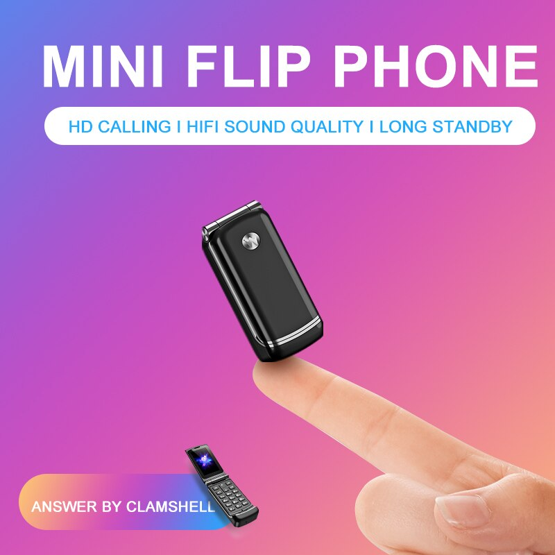 Unlock Supper Mini Bluetooth 3.0 Synchronize Music Small Spare Pocket Flip Cover Keyboard Phone Magic Voice