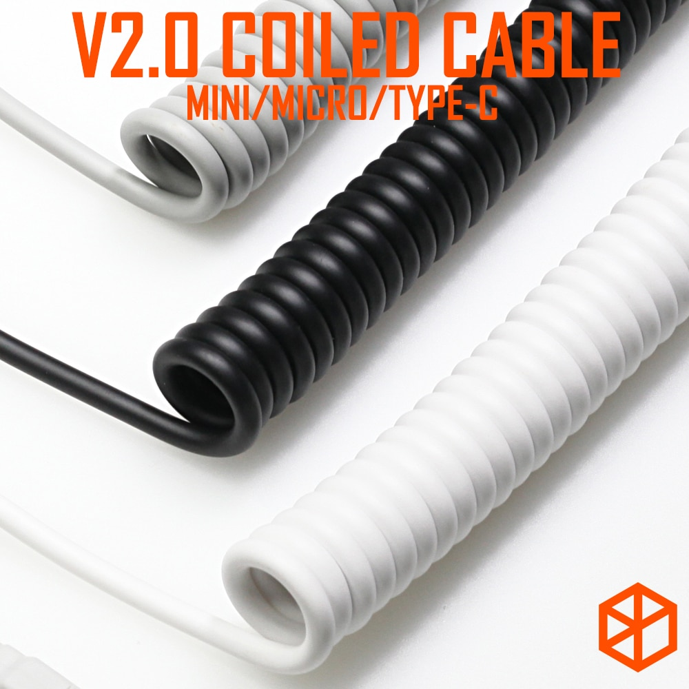 V2 coiled Cable wire Mechanical Keyboard GH60 USB cable min
