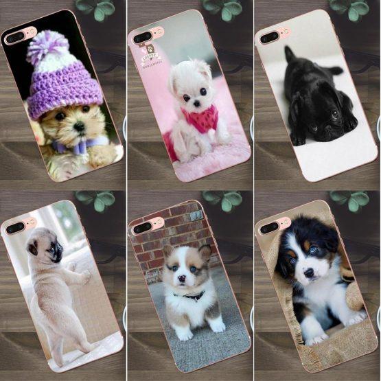 Bixedx Baby Dog Small Animals Soft TPU Phone For Huawei G8 Honor 5C 5X 6 6X 7 8 9 Y5II Mate 9 P7 P8 P9 P10 P20 Lite Plus 2017
