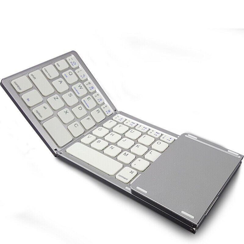 Mini Foldable Bluetooth keyboard with Touchpad For iPhone Huawei Samsung Lenovo Xiaomi Asus LG Mobile Phone wireless keyboard