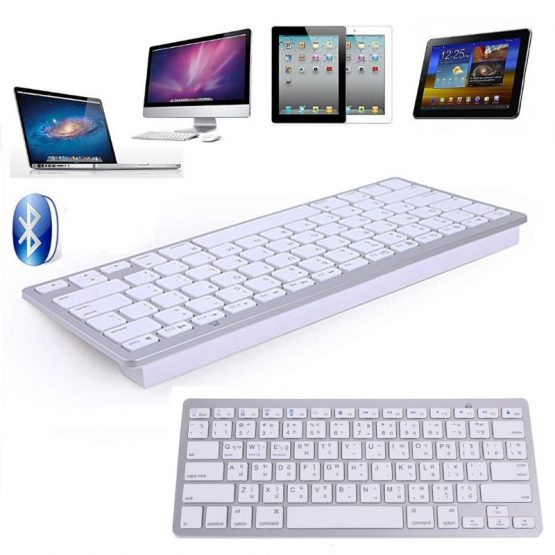 Thailand English Thai 78 Keys Wireless Bluetooth Keyboard for i-Pad Laptop Mac-book Tablet PC Mobile Phone Notebook