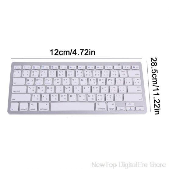 English 78 Keys Wireless Bluetooth Keyboard for iPad Laptop