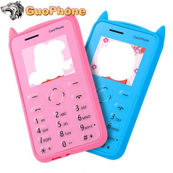 "A5 Small Push Button Mobile Phone 1.77"" Ultra Thin Card Pocket Student Kids MP3 Bluetooth Mini Slim Size Cartoon Cheap Cellphone"
