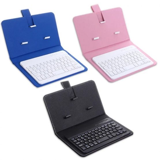 Portable PU Leather Case Protective Cover with Bluetooth Wireless Keyboard