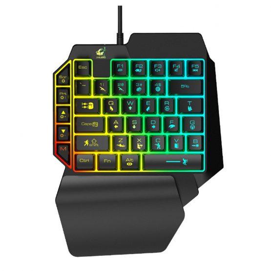 Ergonomic Universal Laptops Wired USB Gaming LED Backlight