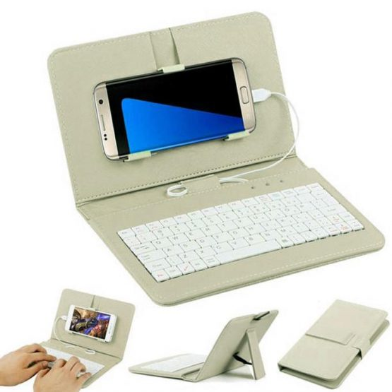 Kuulee Mobile keyboard General Wired keyboard for phone Flip Holster Case
