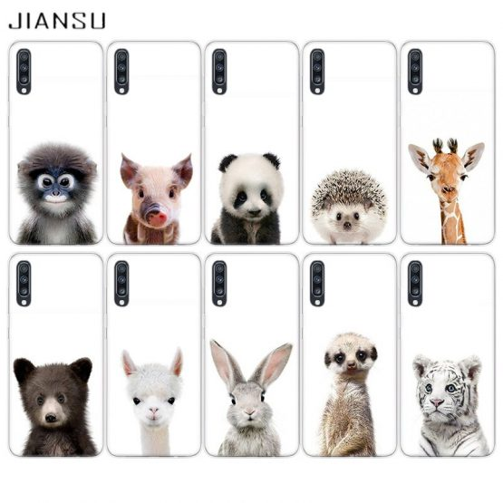 JIANSU Phone Case For Samsung S6 S7 S8 S9 S10 S11 Plus Cover Note 8 9 10 Pro Shell For J4 J6 Plus J8 2018 Small Animals So Cute