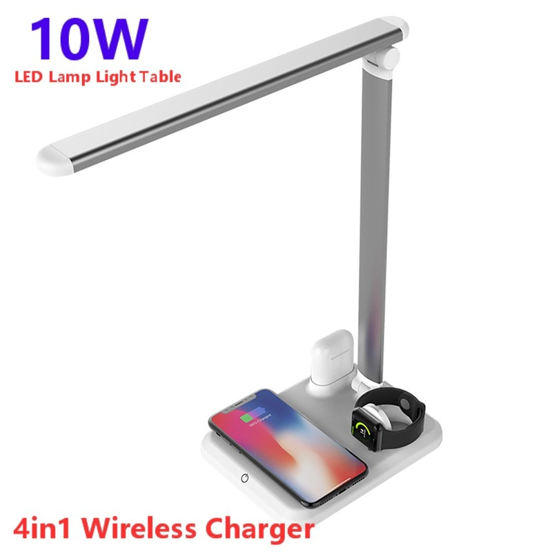 10W LED Lamp Light Table Desk LED Qi Wireless Charger