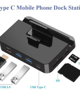 Mobile Phone USB Type C Docking Station Hub Holder