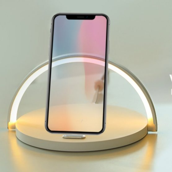 Wireless Charger 10W Table Lamp Phone Qi Charging For iphone 11