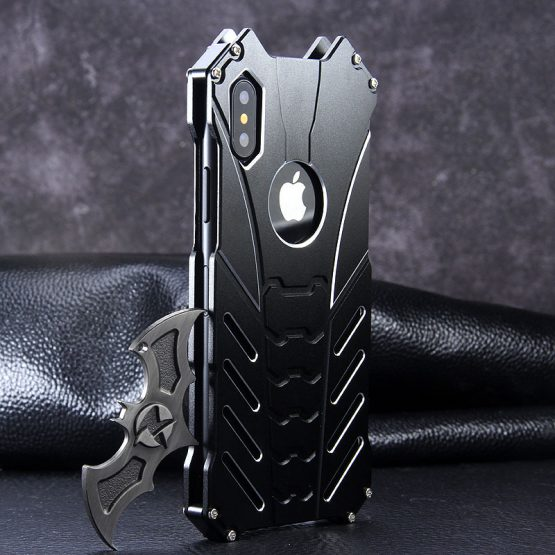 IPhone 11 PRO X XS 12 pro Case Aluminum Metal Batman Armor