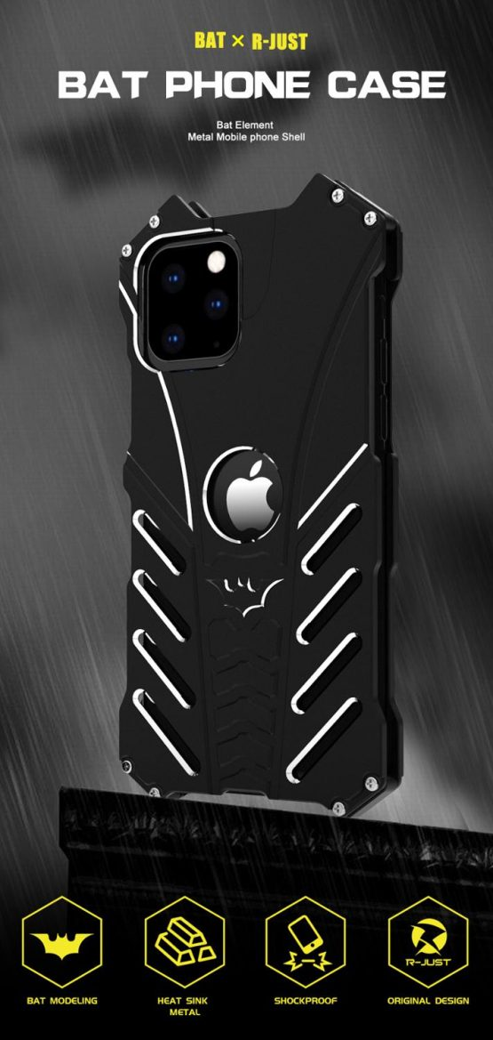 Shockproof Armor Case For iPhone 12 Case Hard Metal Back Cover
