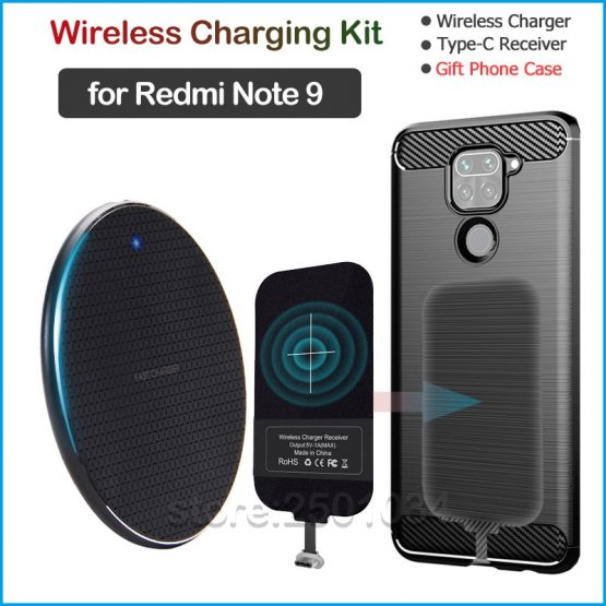 Wireless Charging for Xiaomi Redmi Note 9 Qi Wireless Charger+