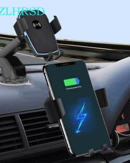 Car Mount Qi Wireless Charger For Samsung Galaxy S20 Ultra S20+