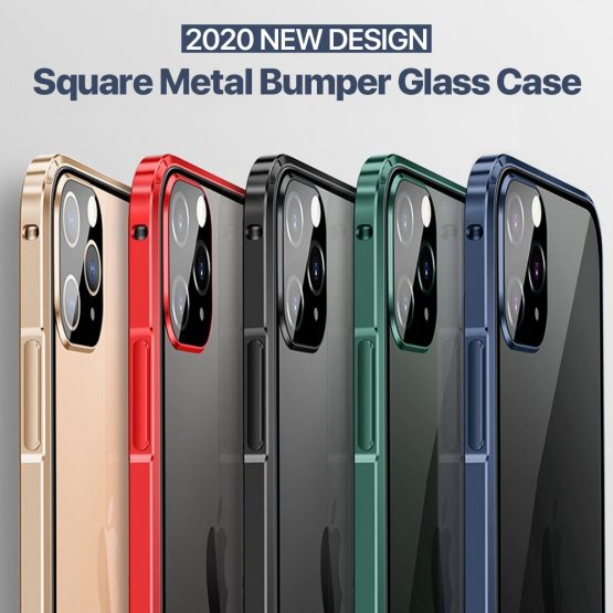 Luxury Square Metal Aluminumm bumper Case For iPhone 11 Pro