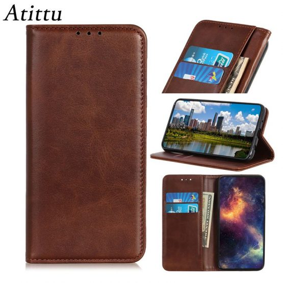 iPhone 12 Case Cover Luxury Card Slot Cowhide Leather