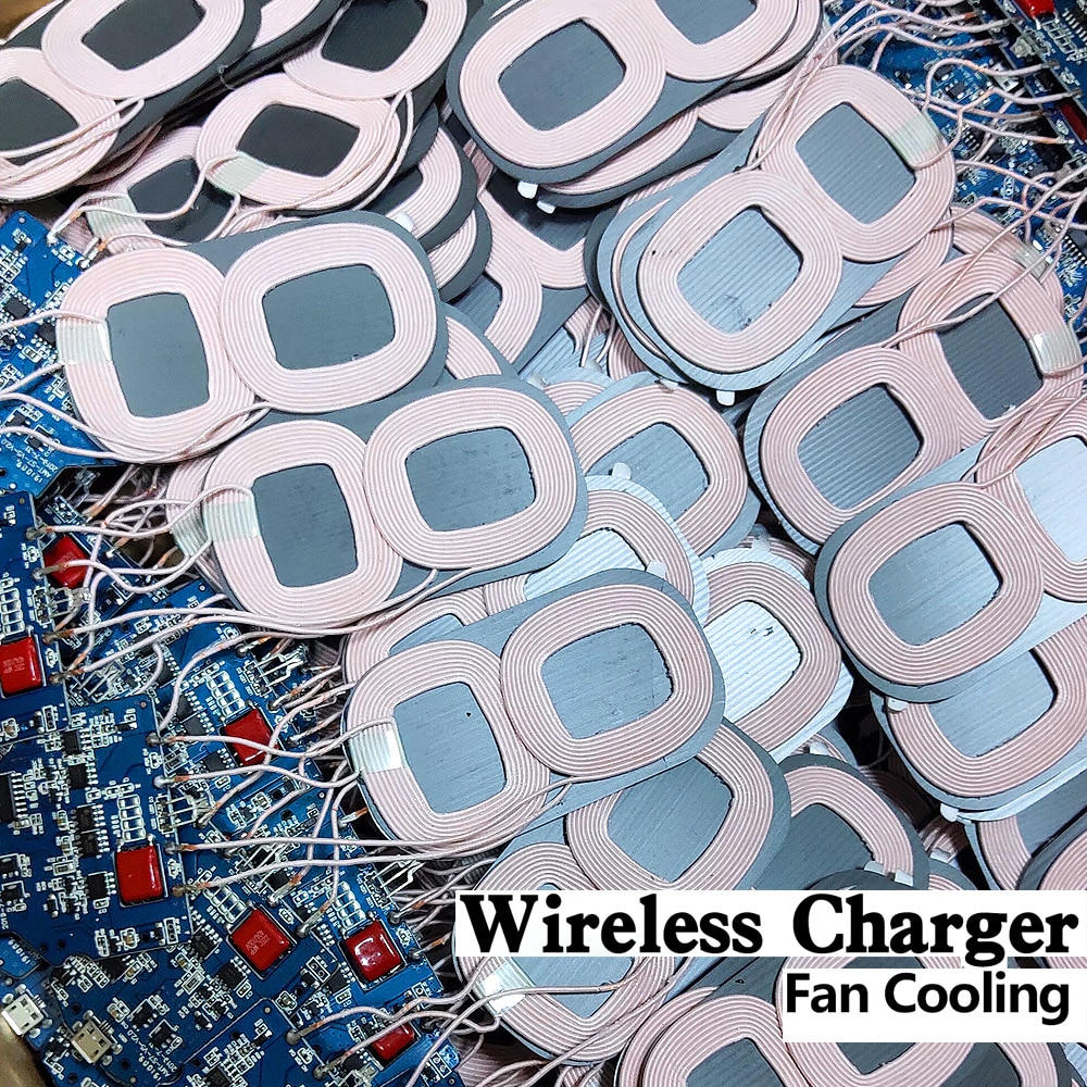 2-Coils Wireless Charging 10W PCBA Circuit Board Micro USB Port