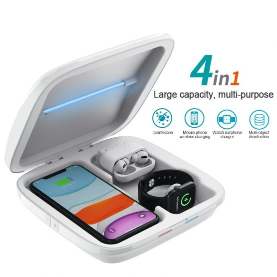 4 in 1 Wireless Charger UV Sterilizer Disinfection Box