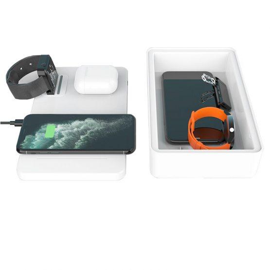 UV phone steriliser 3 in 1 wireless charger