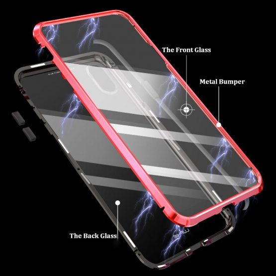 Front Back Glass Case for iPhone 11 Pro max Case Magnetic 360