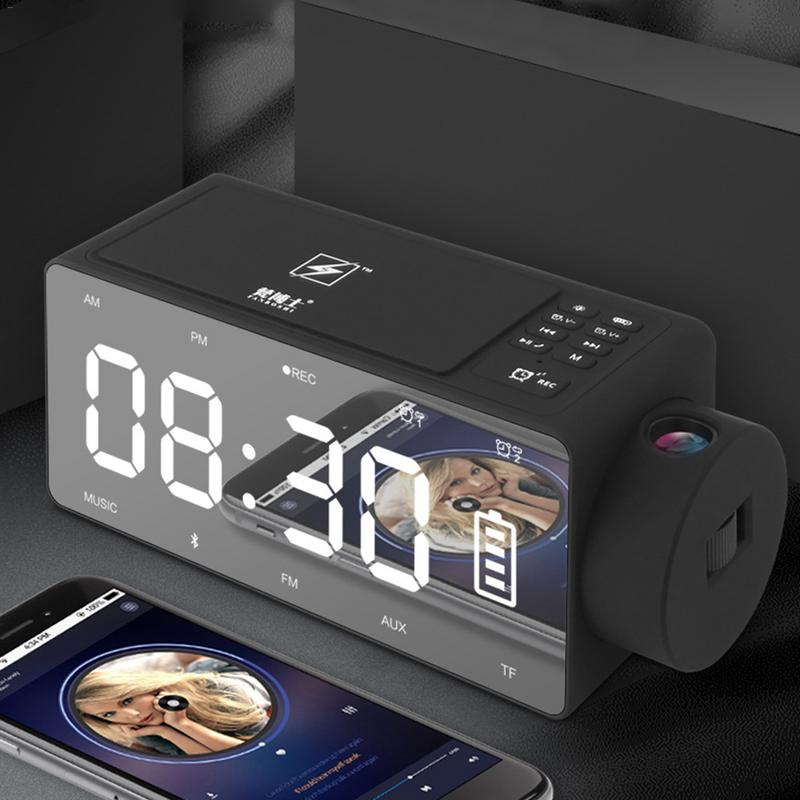 4in1 12V Smart Wireless Charger Fast For IPhone 6/7/8/X Mirror Projector