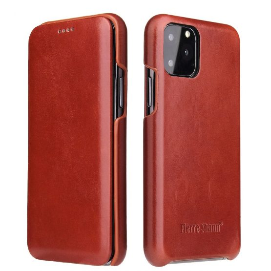 Genuine Leather iPhone 12 11 Pro Max Xs Flip Cover