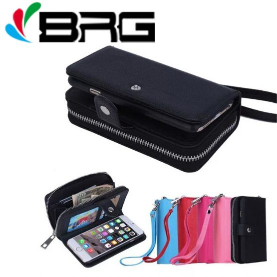 iPhone 11 pro max Luxury Zipper Wallet Leather Case For iPhone 12