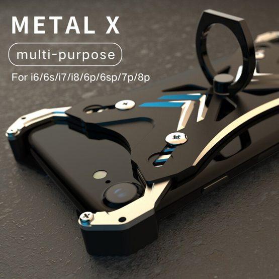 Metal Ring Bumper For iPhone 8 Plus Case Luxury Aluminum Universal Phone Cover