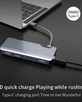 7in1 Type-C USB-C to HDMI RJ45 USB 3.0 PD Charging Hub