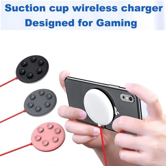 Spider Suction Cup Wireless Charger For iPhone XR XS Max
