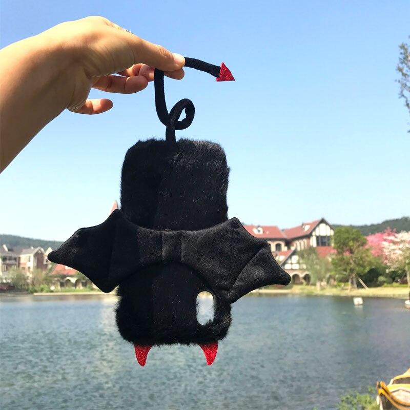Cute fleece bat devil wing cellphone cases for iphone XS Max Xr