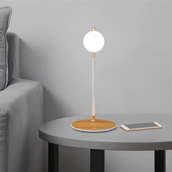 Qi Wireless Charger Stand LED Night Light Desk Lamp