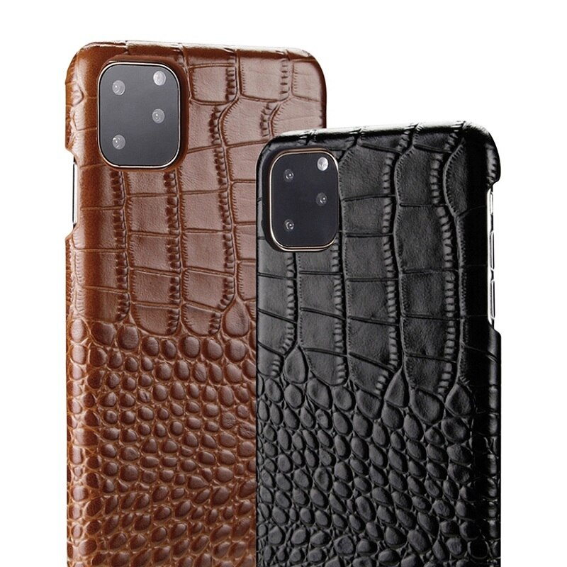 Real Genuine Leather Phone Case For iPhone 11 12 Pro Max XS