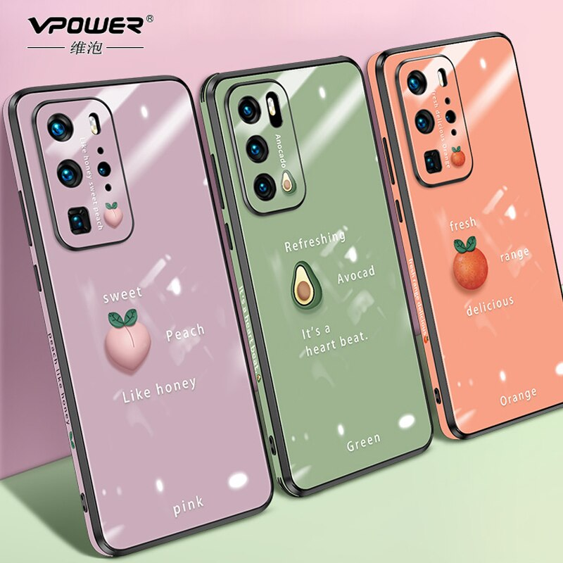 Tempered Glass Case + frame For Huawei P40 P40