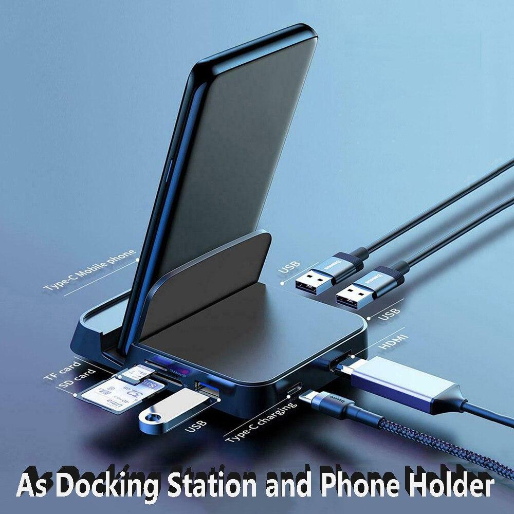 Type-C Docking Station Phone Stand Station