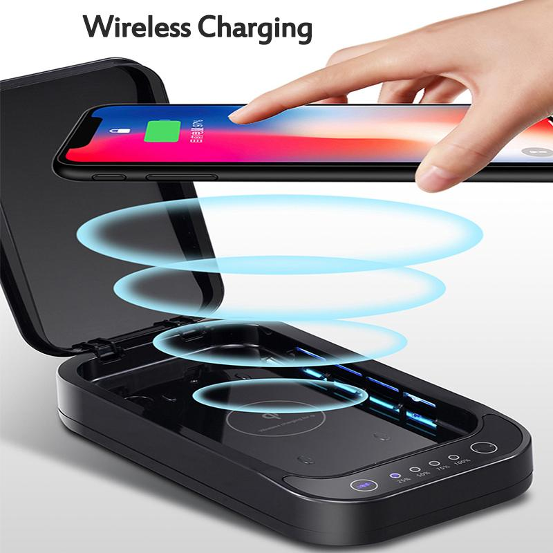 Wireless Charging UV Disinfection Box Sanitizer For iPhone/Samsung