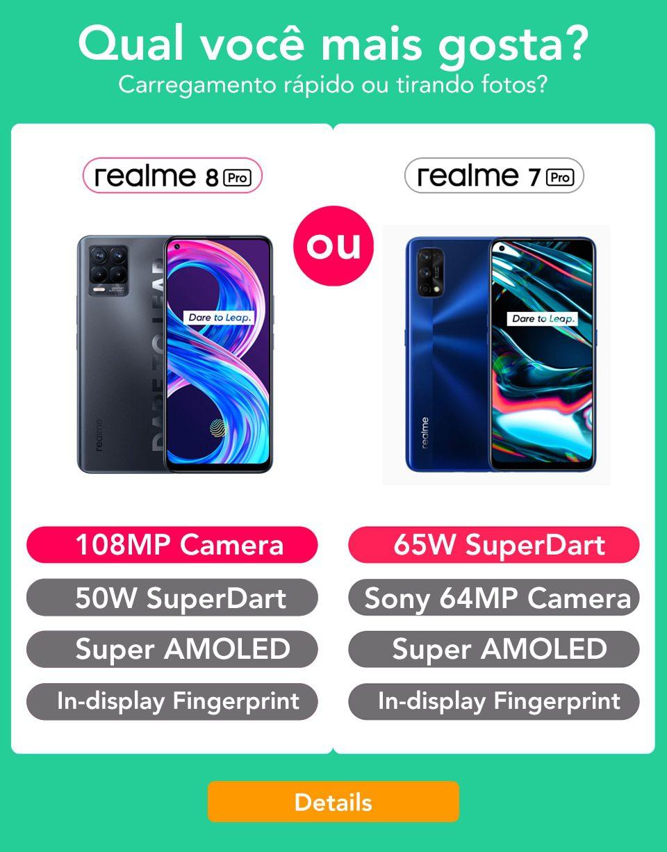 Realme 8 Pro Global Version 8GB 128GB 108MP Camera 50W SuperDart Cost AMOLED Assist B2/4 EU Plug Charger